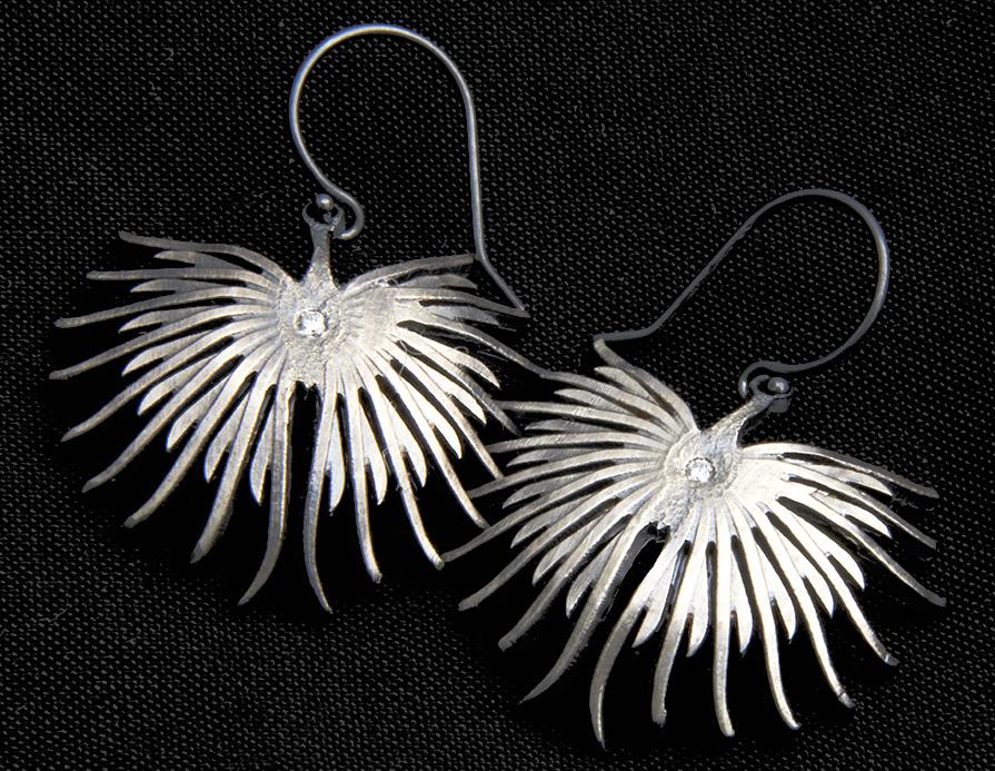 Fieldstone -- Art gallery earrings