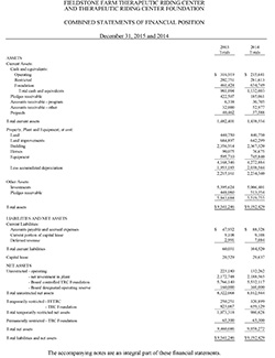 Combined Financial Report, December 31, 2015 and 2014